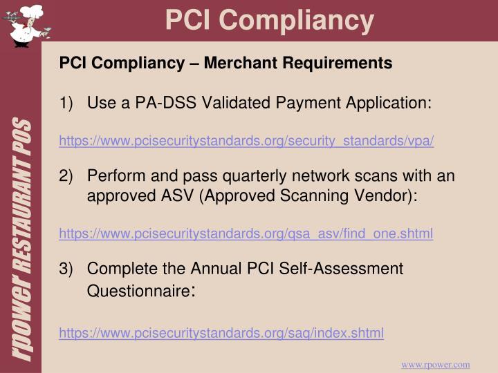 PCI Compliancy – Merchant Requirements