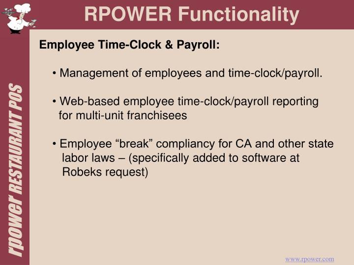 Employee Time-Clock & Payroll: