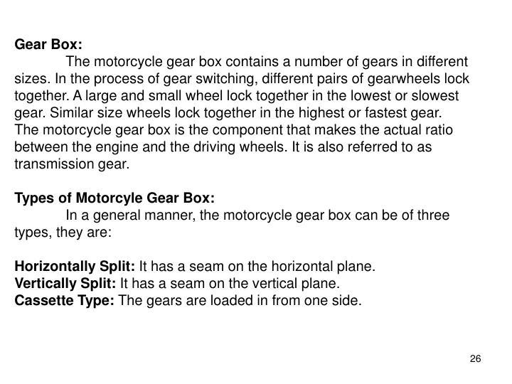 Gear Box: