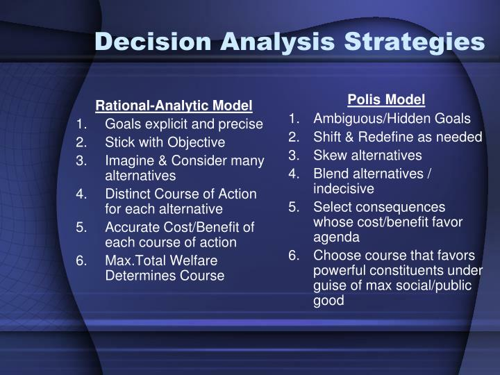 Decision Analysis Strategies