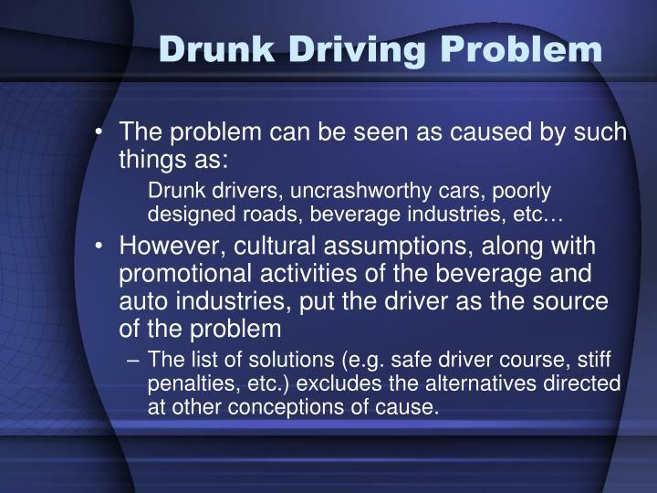 Drunk Driving Problem