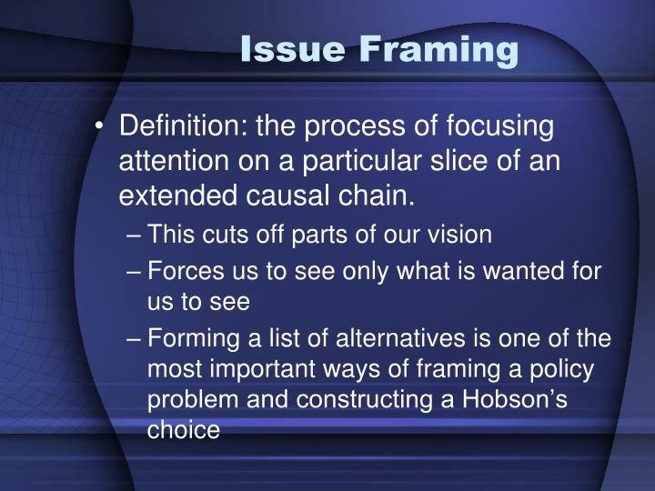 Issue Framing