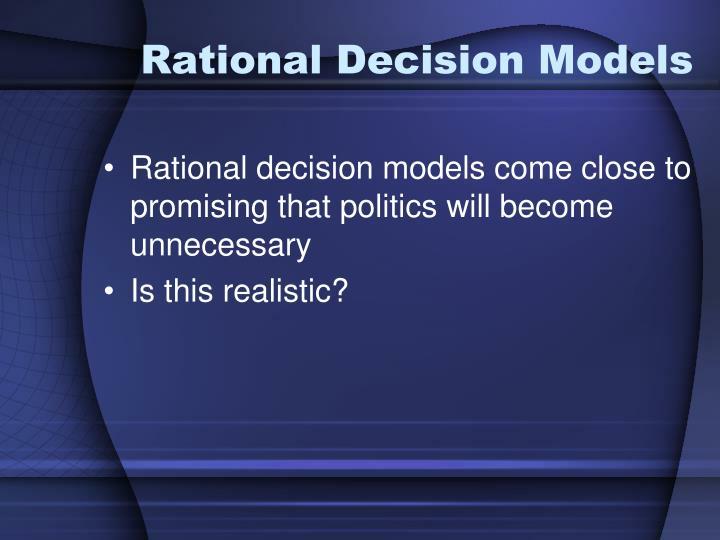 Rational Decision Models
