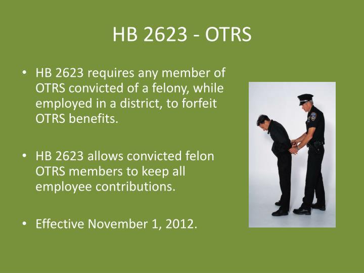 HB 2623 - OTRS