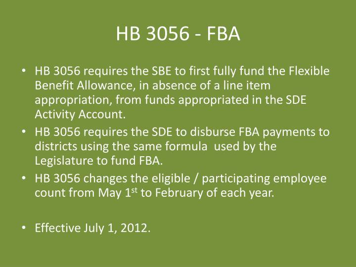 HB 3056 - FBA