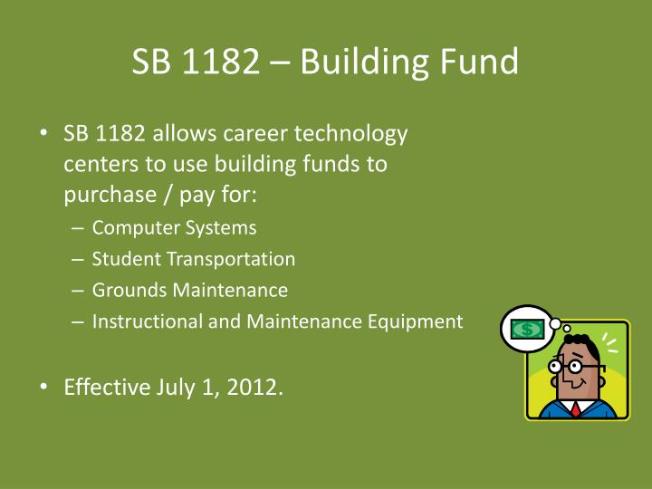 SB 1182 – Building Fund