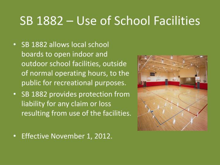 SB 1882 – Use of School Facilities