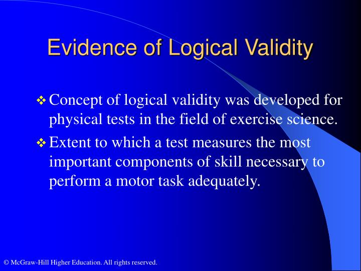 Evidence of Logical Validity