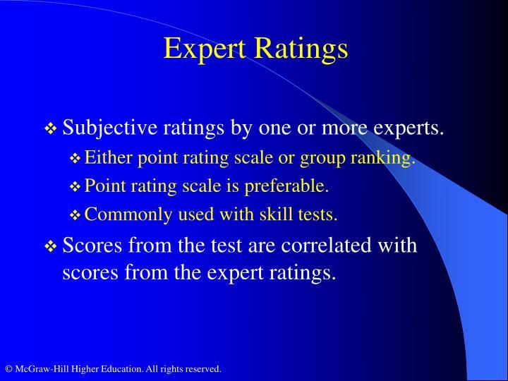 Expert Ratings