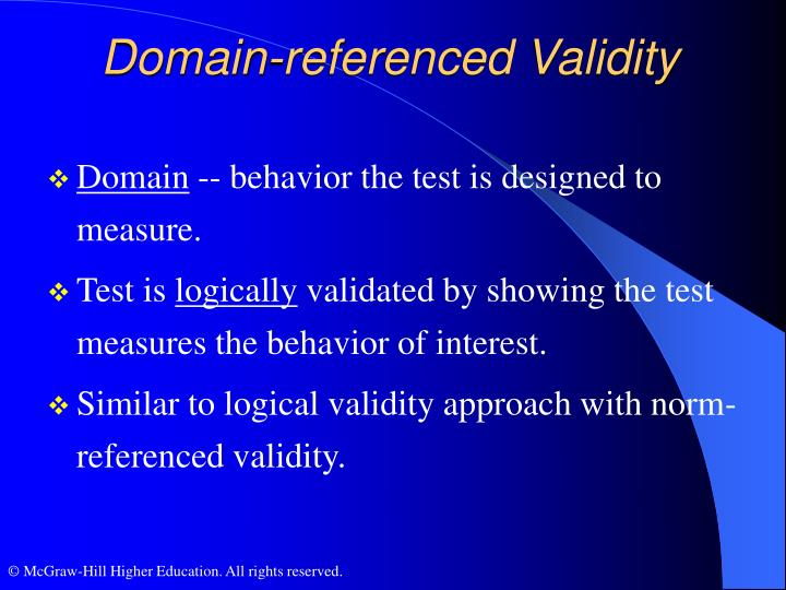 Domain-referenced Validity