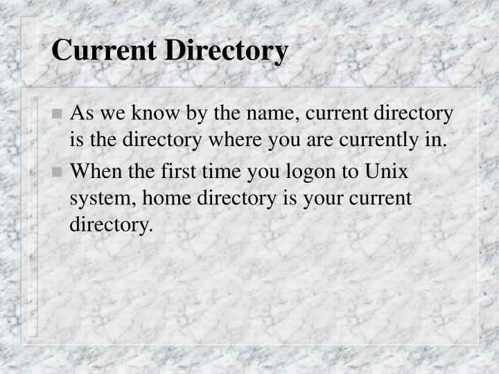 Current Directory