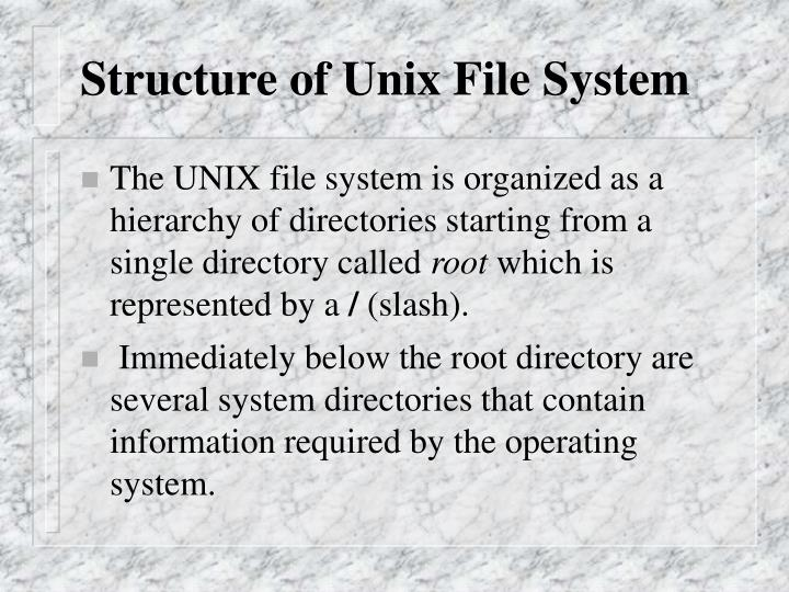 Structure of Unix File System