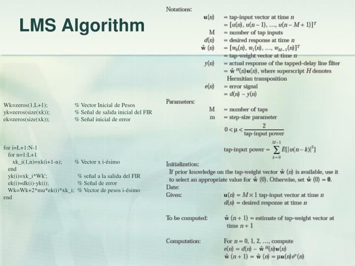 LMS Algorithm