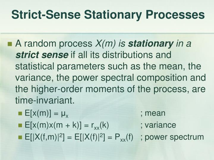Strict-Sense Stationary Processes