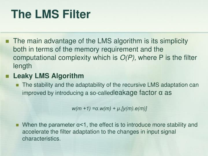 The LMS Filter