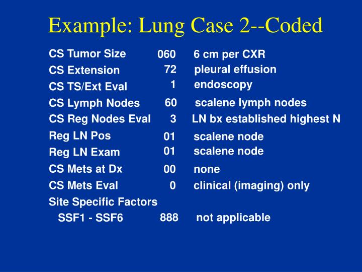 Example: Lung Case 2--Coded