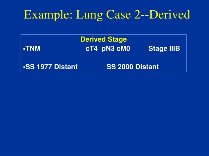 Example: Lung Case 2--Derived