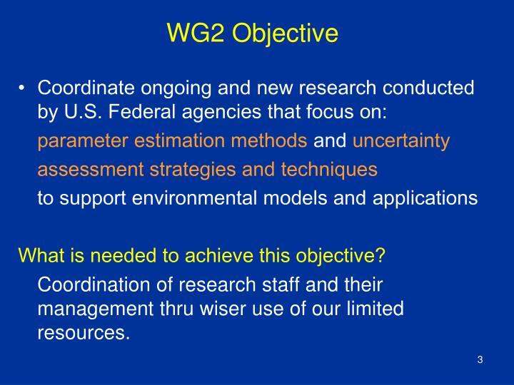 WG2 Objective