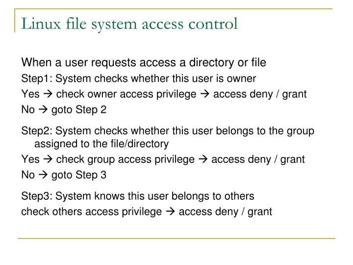 Linux file system access control