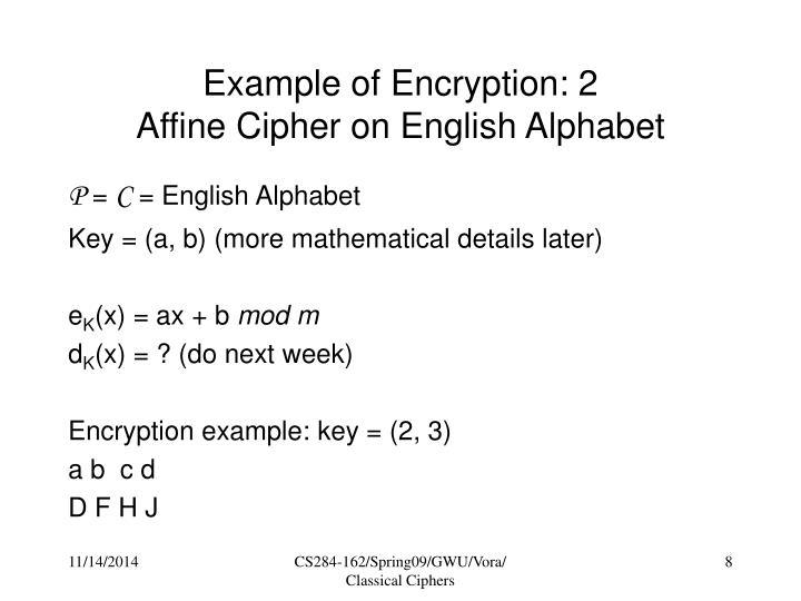 Example of Encryption: 2