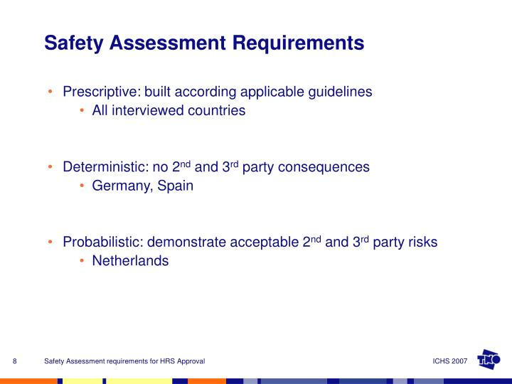 Prescriptive: built according applicable guidelines