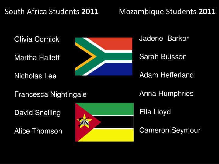 South Africa Students