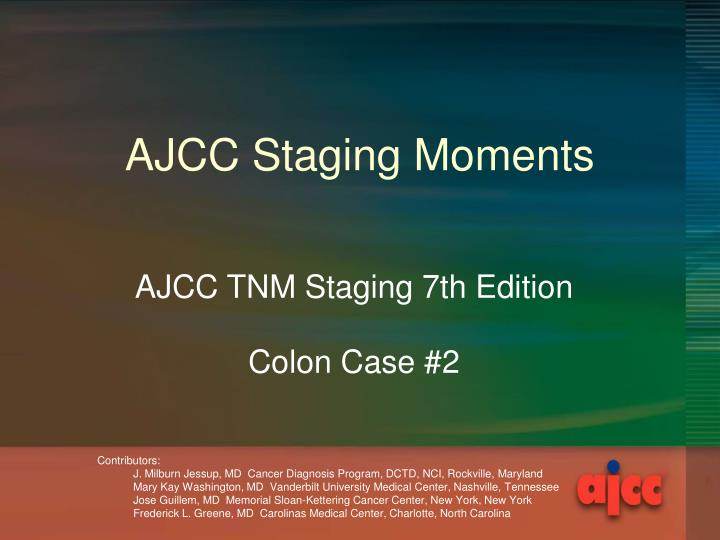 Ajcc staging moments