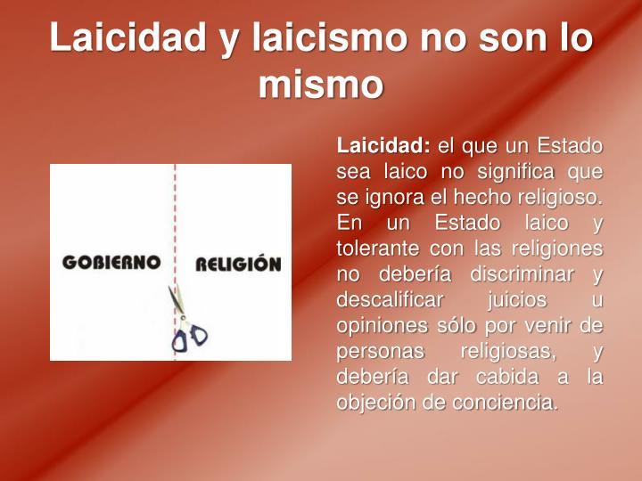Laicidad y laicismo no son lo mismo