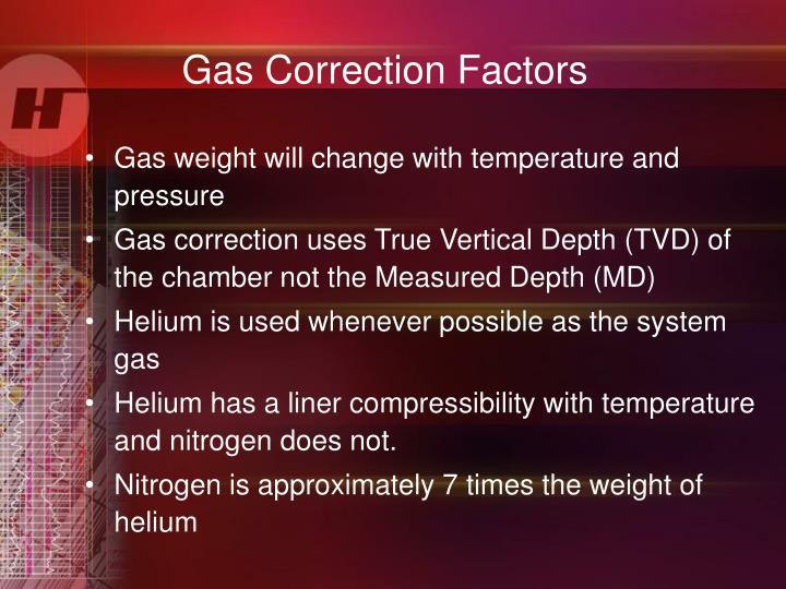 Gas Correction Factors