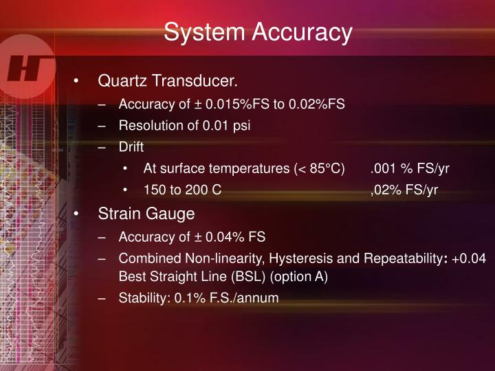 System Accuracy