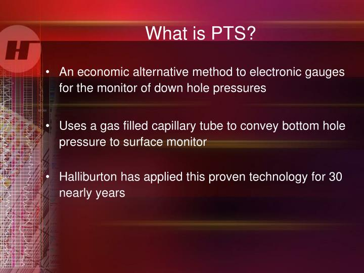 What is PTS?