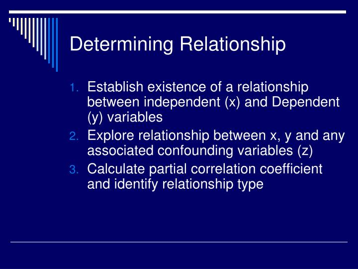 Determining Relationship