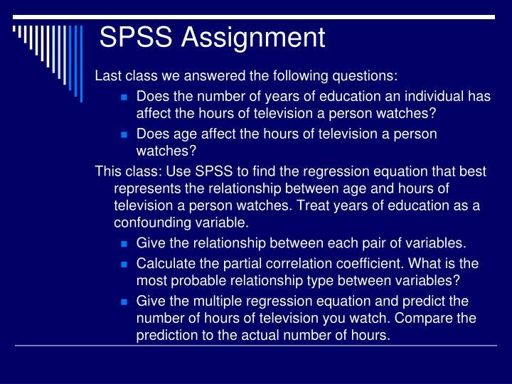 SPSS Assignment