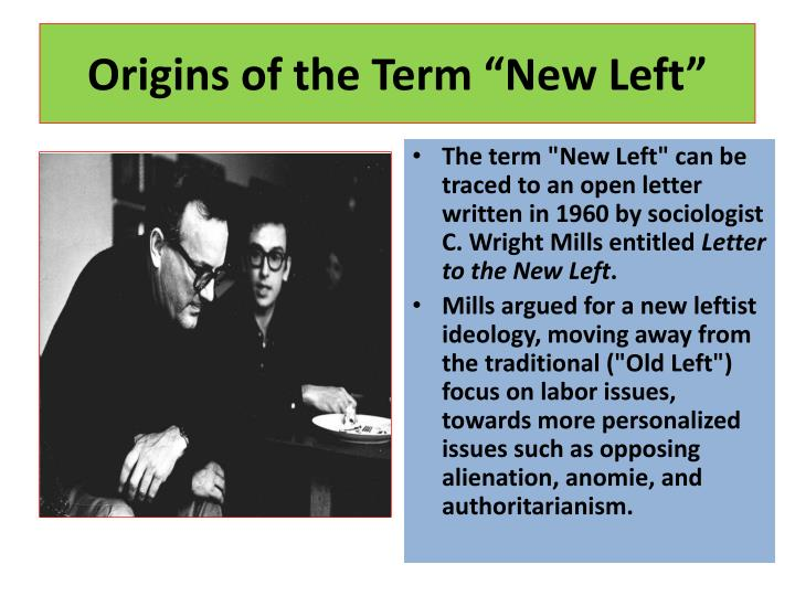 "Origins of the Term ""New Left"""