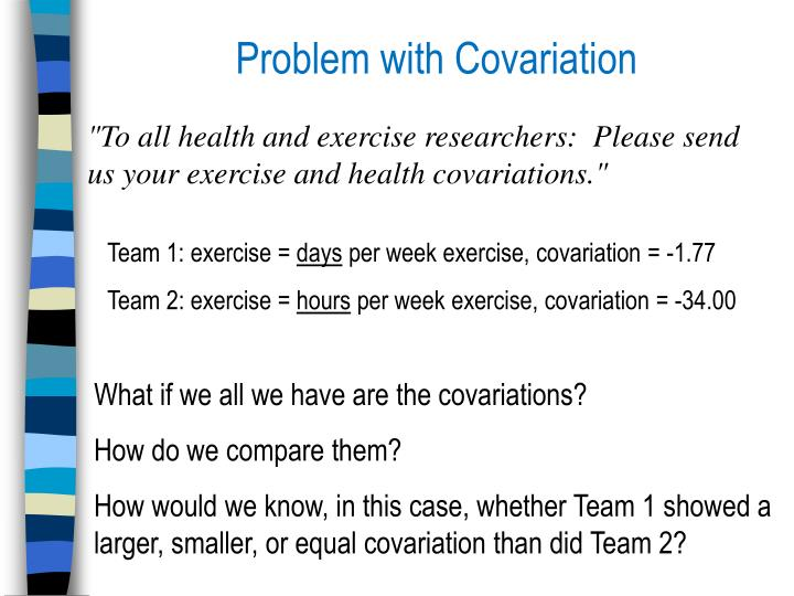 Problem with Covariation
