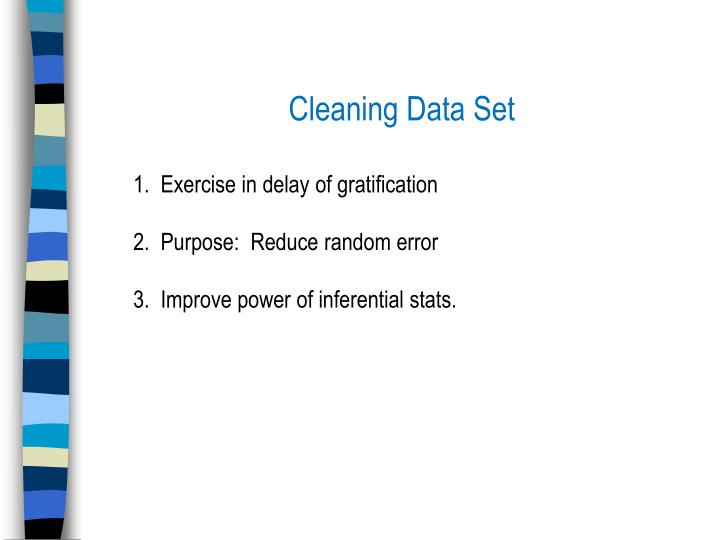 Cleaning Data Set