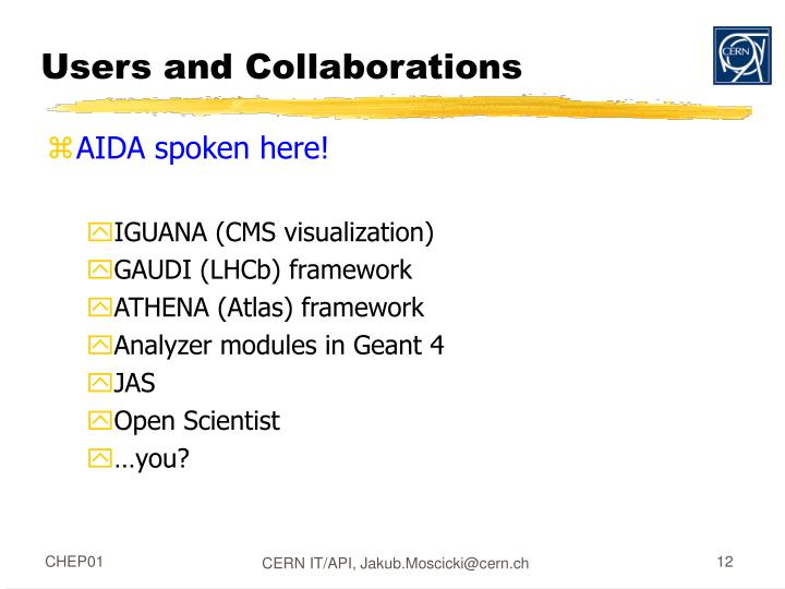 Users and Collaborations