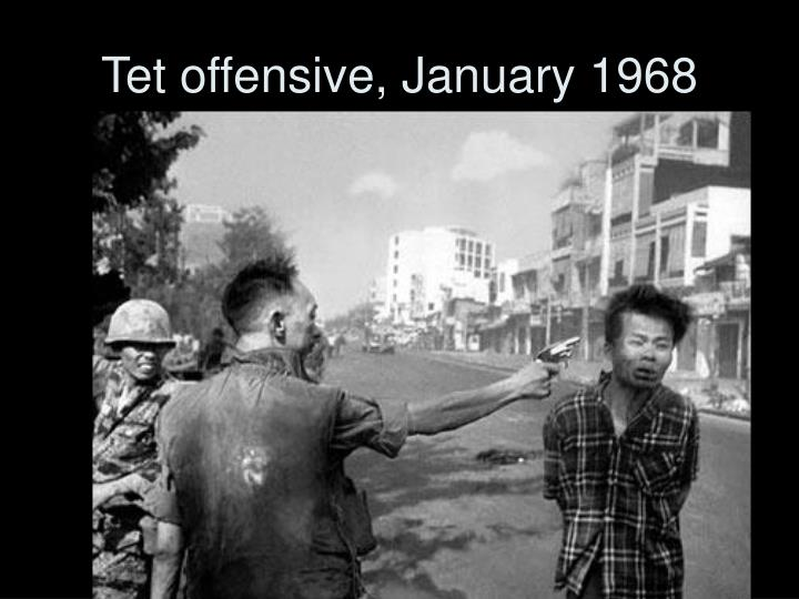 Tet offensive, January 1968