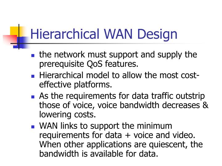 Hierarchical WAN Design