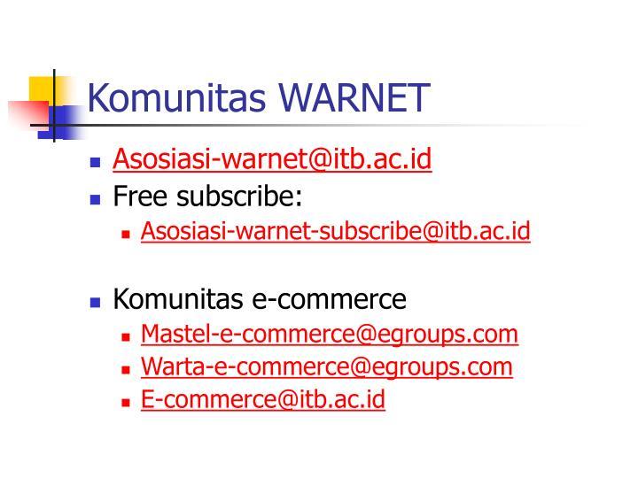 Komunitas WARNET