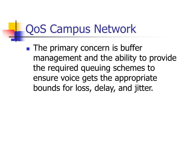 QoS Campus Network