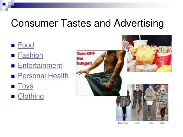 Consumer Tastes and Advertising