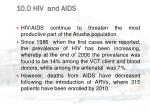 10 0 hiv and aids