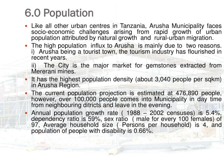 6.0 Population