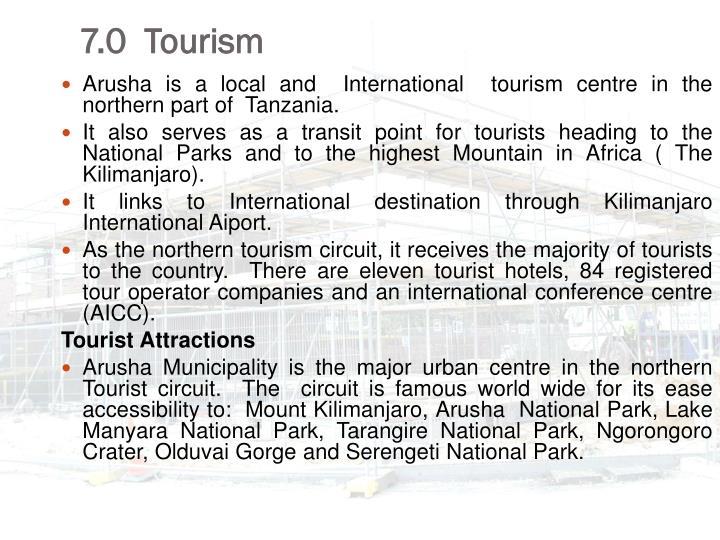 7.0  Tourism