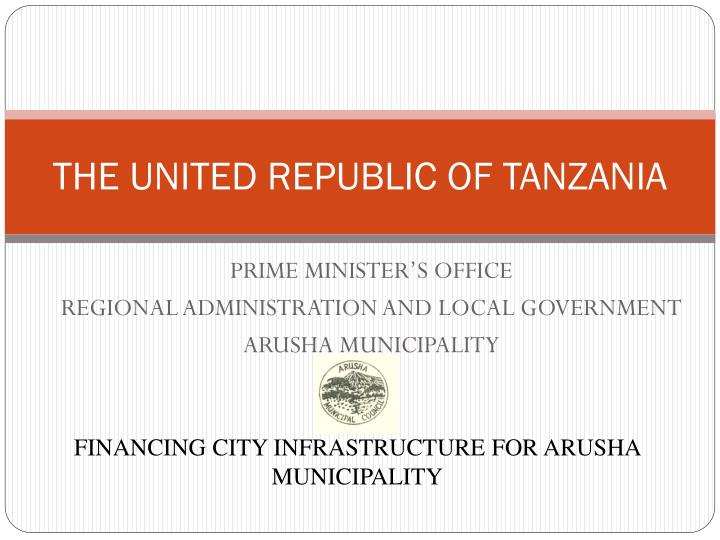 The united republic of tanzania