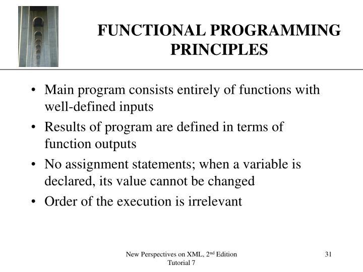 FUNCTIONAL PROGRAMMING PRINCIPLES