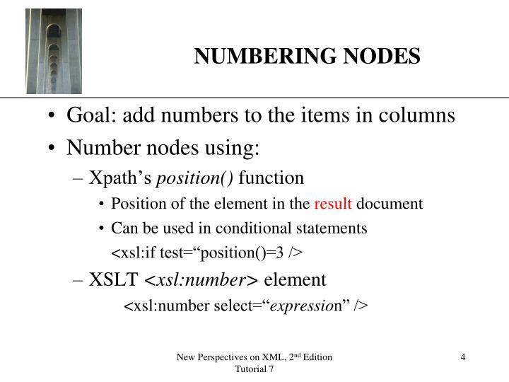 NUMBERING NODES