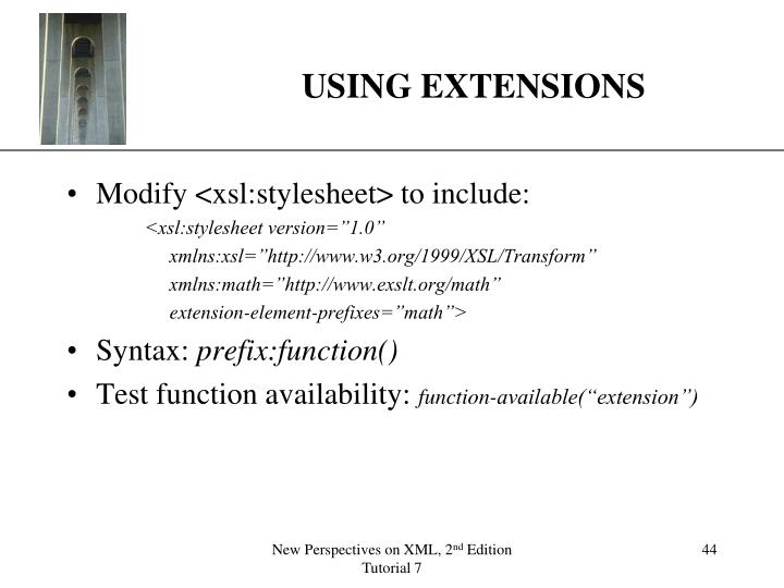 USING EXTENSIONS