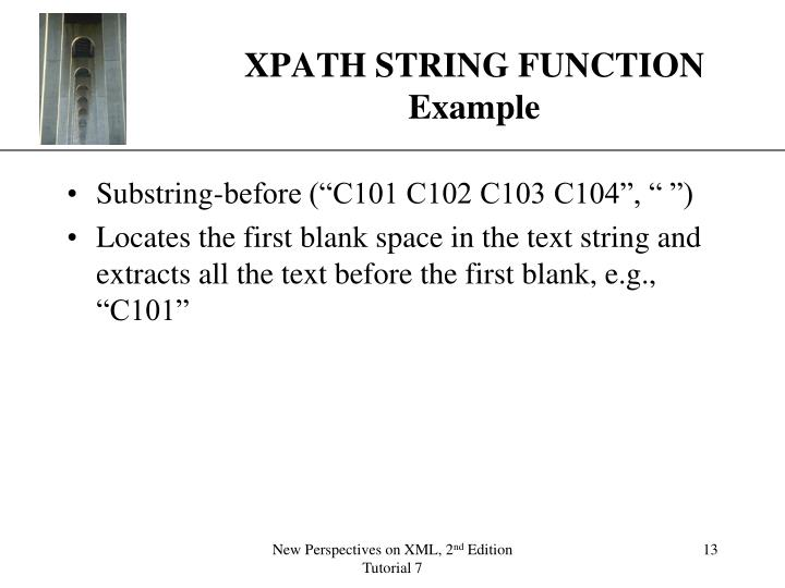 XPATH STRING FUNCTION